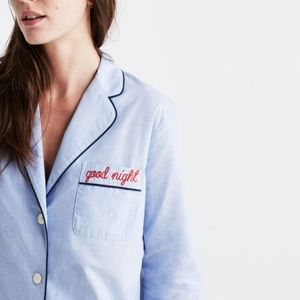 Madewell Embroidered Good Night Shirt